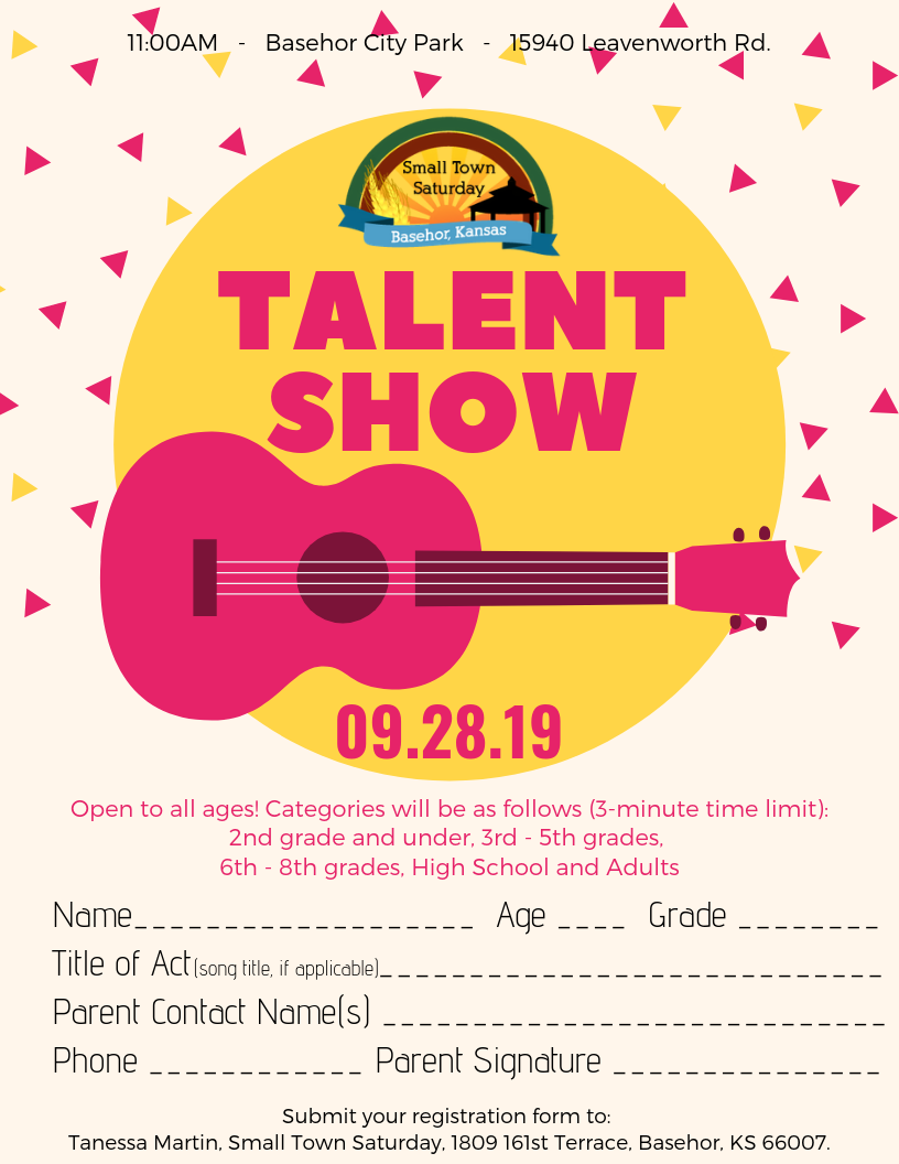 STS Talent Show Flyer